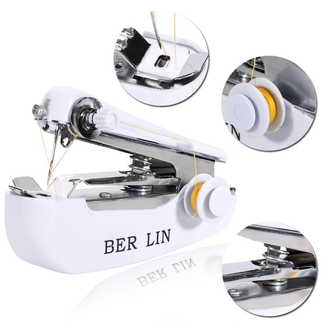 begorey Haushalts Mini tragbare Handkleidung Stoff N/ähmaschine Overlock-N/ähmaschinen
