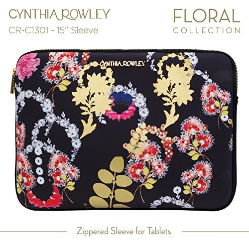 Cynthia Rowley Design Laptop Case 15 inch Zippered Sleeve - Macbook Pro 15