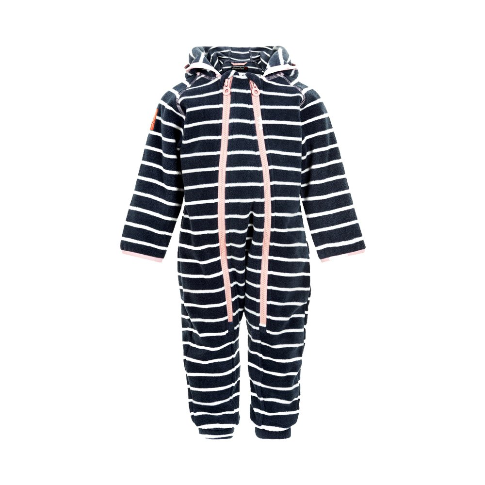 MINYMO weicher Warmer Baby Fleece Overall mit rosa Doppel Rei/ßverschluss