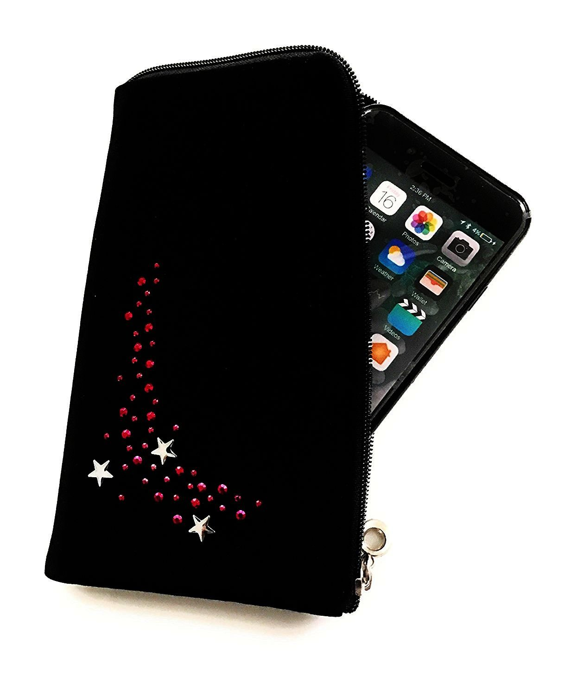 'Cremallera Funda Softcase Negro con Brillantes Diseño Stars Adecuado para Apple iPhone X–Funda Car...
