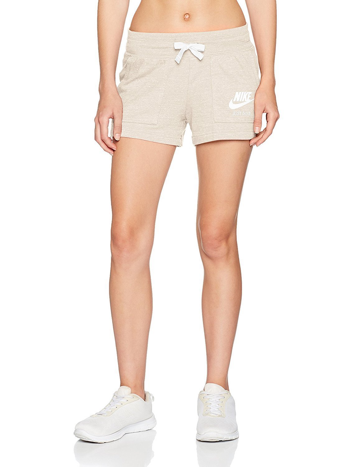 Nike Women's NSW Gym Vintage Short, Oatmeal/Sail, X-Small