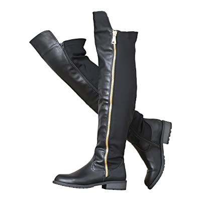ShoBeautiful Women's Winter Low Heel Knee High Riding Boots Over The Knee Boot ZY01 | Over-the-Knee