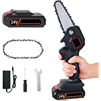 YOTOCOOL Mini Chainsaw, 4-Inch Cordless Electric Protable Chainsaw One-Hand Lightweight, Pruning Shears Chainsaw for…