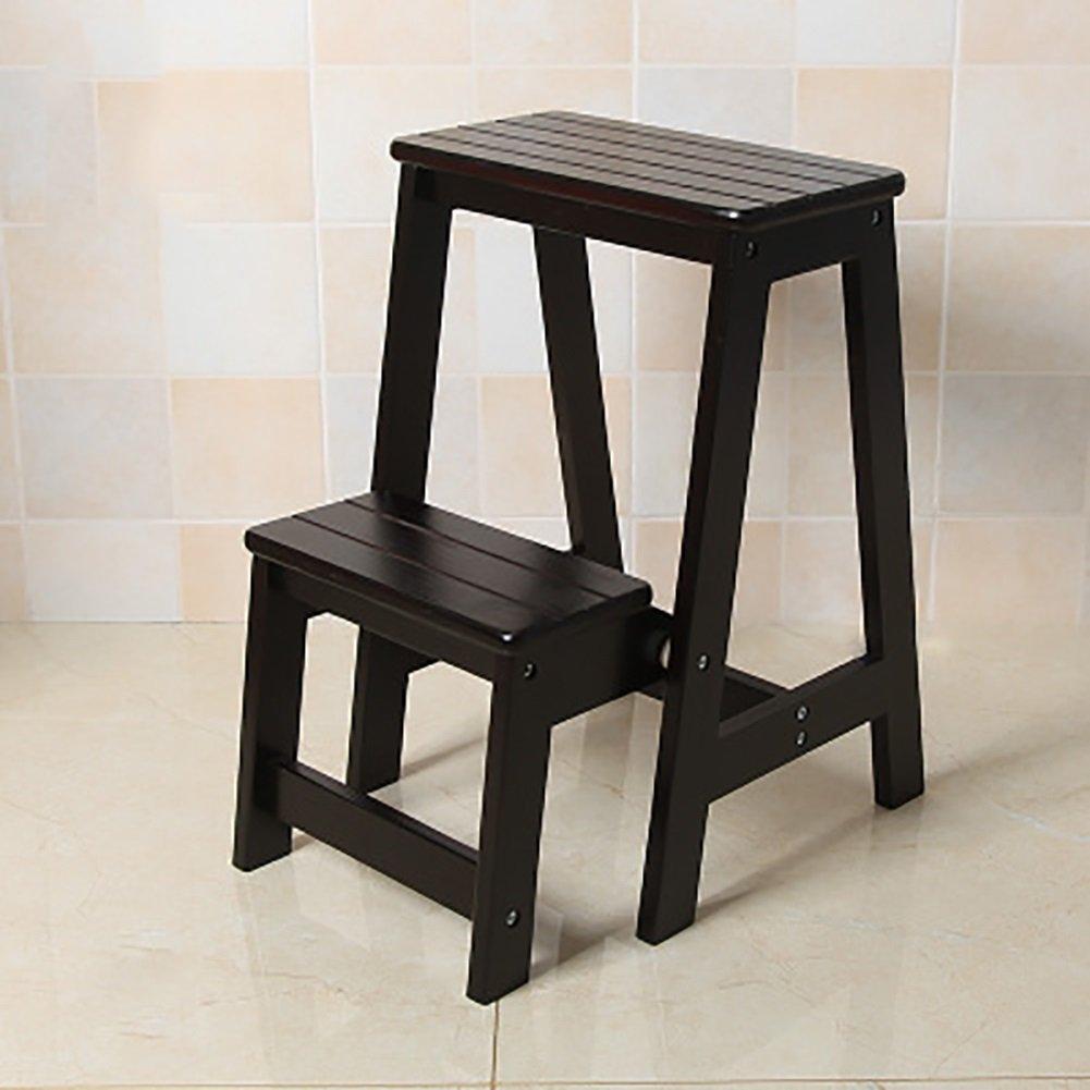 RMJAI ステップ 高い木製ベンチキッチンステップスツールシート折りたたみ式はしごチェア多機能ポータブル家庭用 (色 : C) B07RQQG6WT C