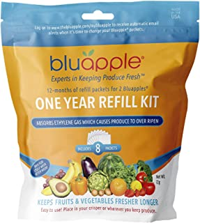 product image for Bluapple One-Year Refill Kit 8 packets for two Bluapples for one year keeps produce fresh longer extends the life of produce! Organic, saves money