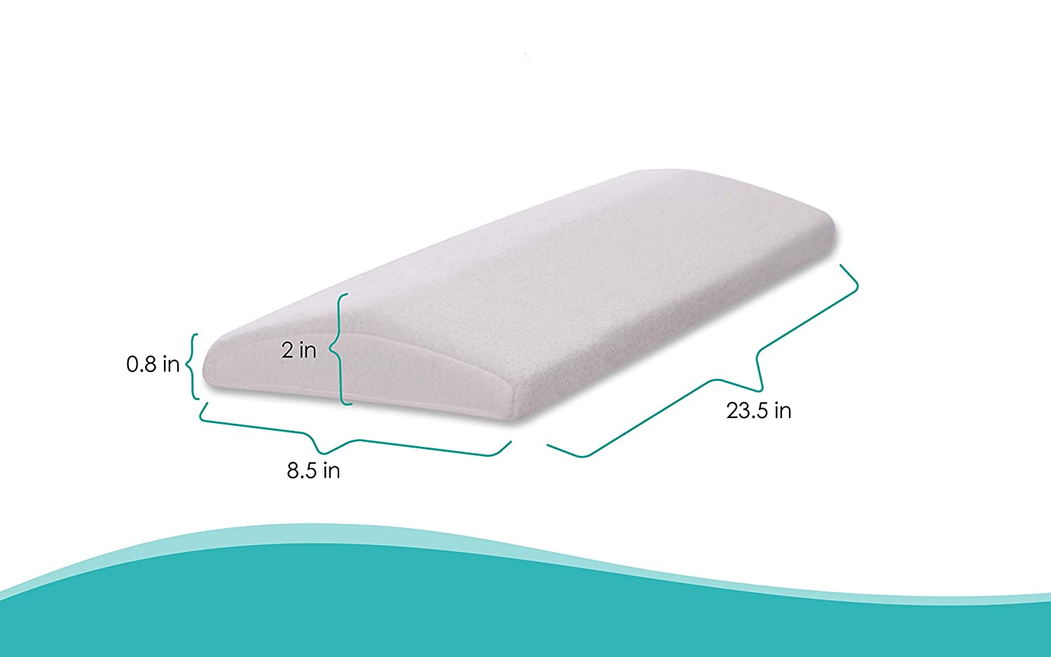 Ergonomic Memory Foam with Heat Dissipating Cool Gel PandasPillow Cooling Lumbar Support Pillow for Sleeping Back Pain Washable Hypoallergenic Bamboo Cover