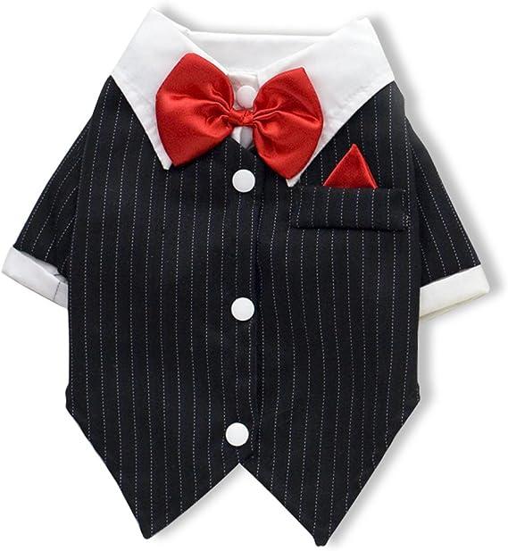 PETCUTE Trajes de Perro Camisa Traje de Smoking para Perros de Halloween Navidad: Amazon.es: Hogar