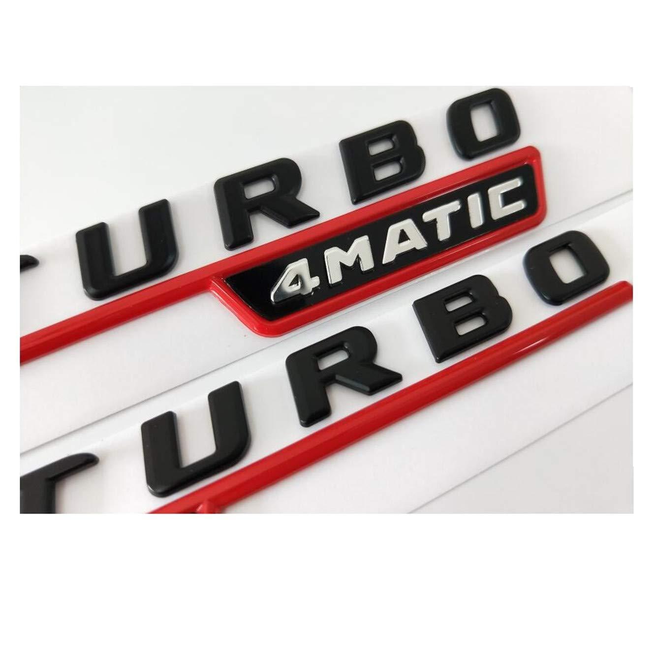 Stemma Embl/ème de Hayon Embl/ème AMG W176 W177 CXYYJGY Lettere Noires A35 A45 V8 BITURBO Turbo 4 MATIC
