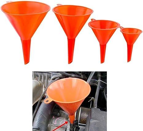 4-Piece Plastic Different Size Funnel Set Kitchen Garden Oil Fuel S U T4V2
