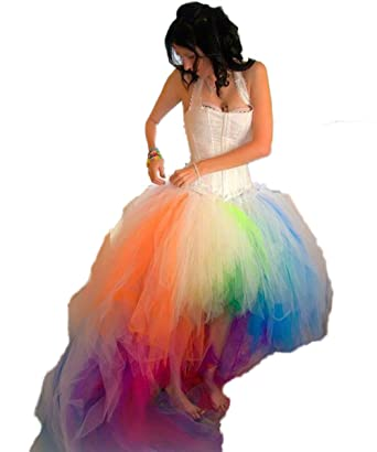 Cocogirls 2018 colorful rainbow wedding dress sexy halter hi lo cocogirls 2018 colorful rainbow wedding dress sexy halter hi lo bridal dresses us 2 junglespirit Image collections