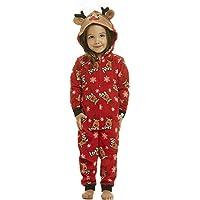 wgyc Family Matching Jumpsuits Sleepwear Deer Christmas Xmas Hoodie Deer Ears Pajamas Set for Man Women Girl Boy Baby…