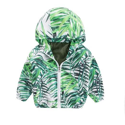 78fc3d3cd Amazon.com  DIGOOD Teen Toddler Baby Boys Girls Leaves Hooded Coat ...