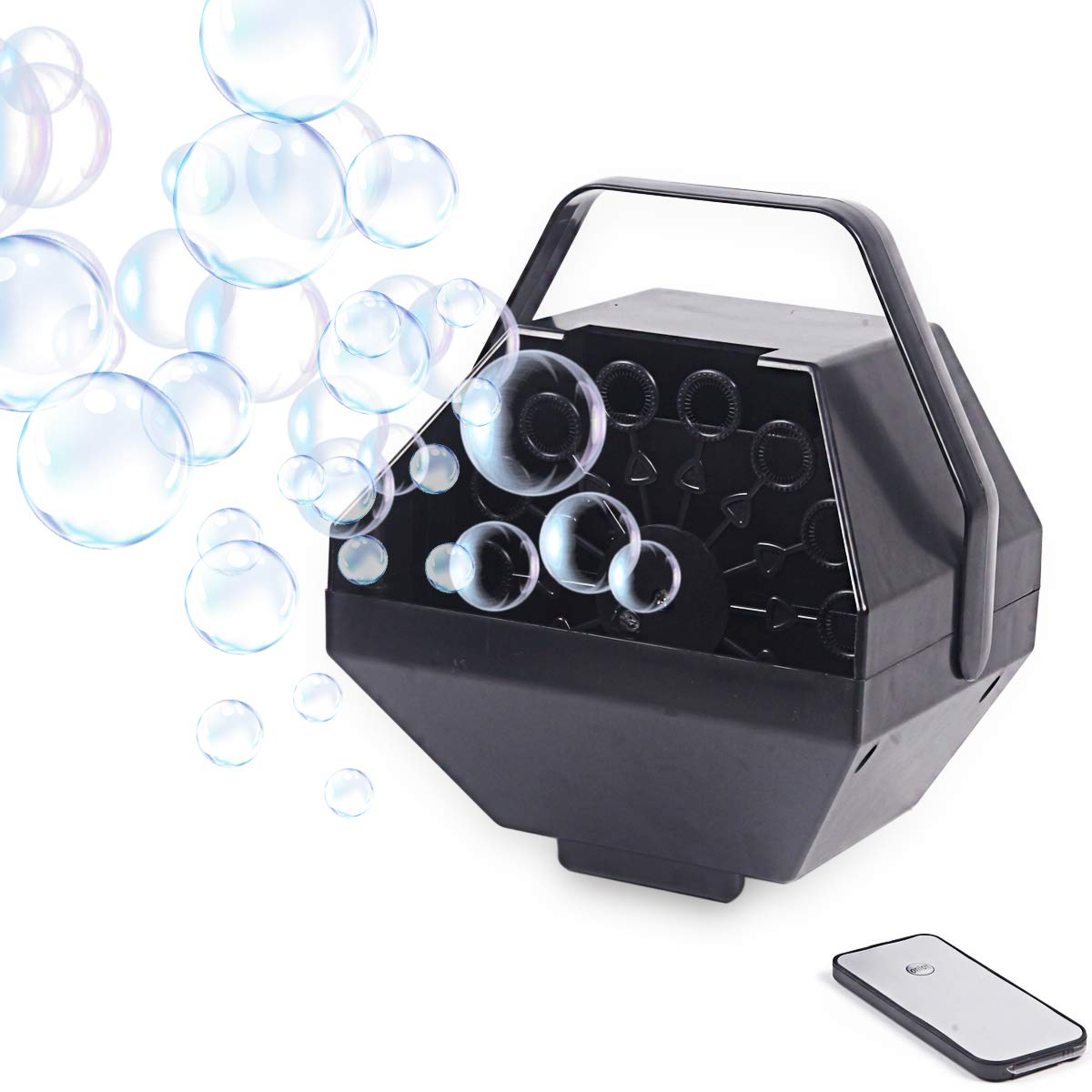 Arelux Upgraded Automatic Portable Bubble Machine |Wireless Remote Control Professional Bubble Maker | High Output Bubble Blower for Party Wedding |Powered by Plug-in Outdoor/Indoor Use