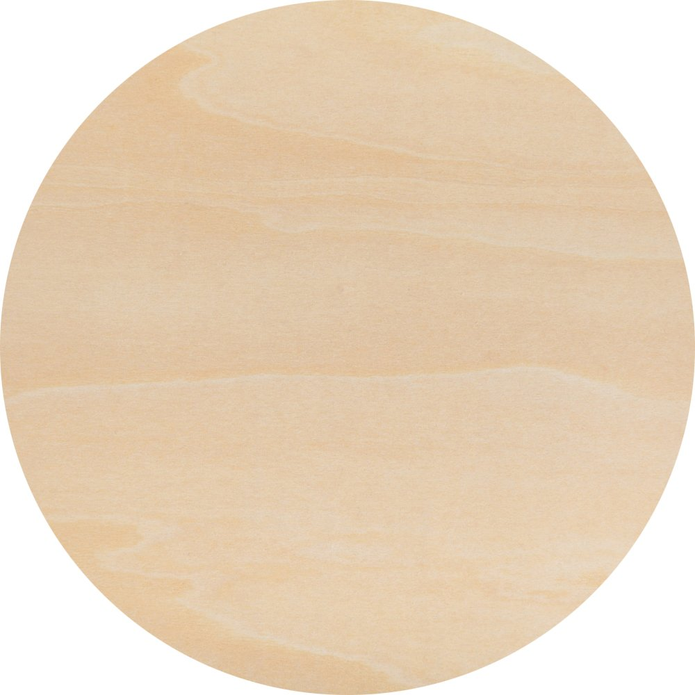Wood Plywood Circles 14 inch, 1/8 Inch Thick, Round Wood Cutouts, Pack of 1 Baltic Birch Unfinished Wood Plywood Circles For Crafts, By Woodpeckers