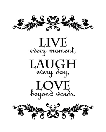 Amazoncom Newclew Live Every Moment Laugh Every Day Love Beyond