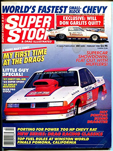 Super Stock & Drag Illustrated 2/1988-Old Cutlass-Garlits-NHRA-AHRA-VG