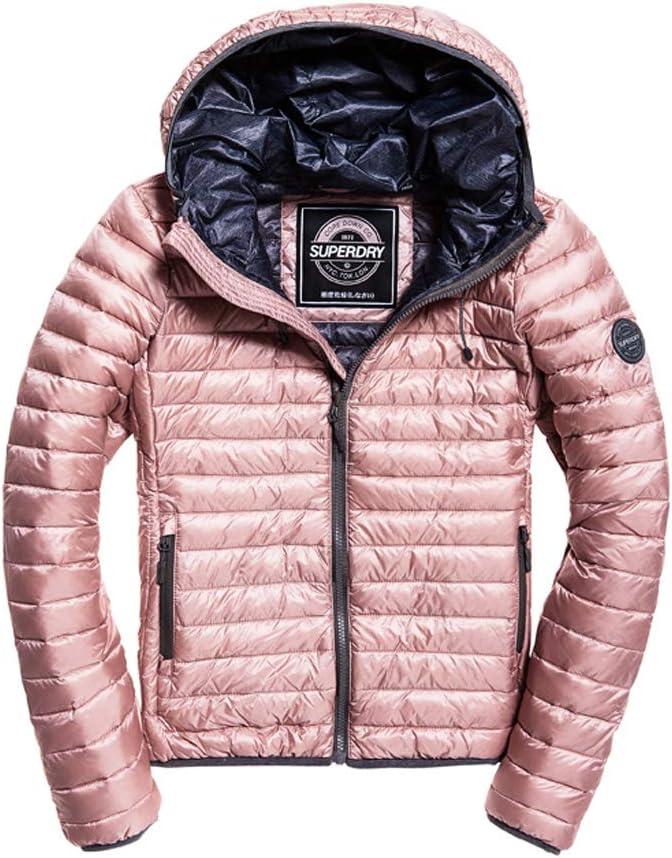 Superdry Damen Core Down Hooded Jacket Sportjacke:
