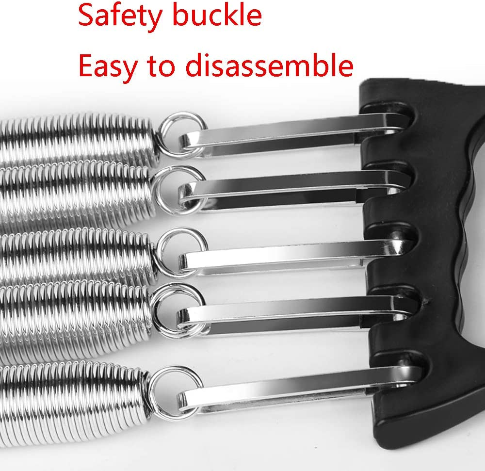 Bodybuilding Expander with Handle and 5 Detachable Spring Tubes FREETT Chest Expander Exerciser Adjustable Chest Expander for Muscle Stretching 45 kg Resistance