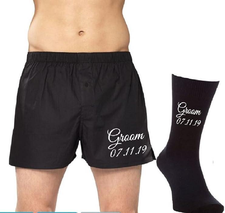 Property of ... Personalised Boxer Shorts and Socks Set