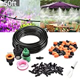 MSDADA Micro Irrigation Kits, 50ft/15m Patio Plant Watering System Kit 4/7 Tube DIY Garden Drip Irrigation System and Watering Drip Kits Set for Garden Greenhouse, Flower Bed,Patio,Lawn