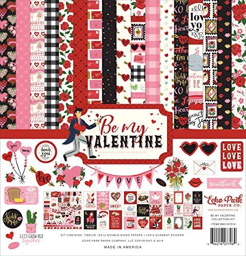ECHO PARK PAPER COMPANY BMV197016 BE My Valent Collect 12X12 KIT, Be My Valentine