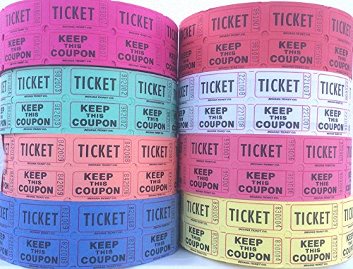 lovely double roll raffle ticket tower 50 50 deposit one keep