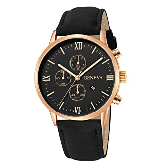 Fashion Mens Watch Date Alloy Case Synthetic Leather Watchbands Analog Quartz Sport Watches Simple Round Clock Dial Watch Quartz Watches Men's Watches