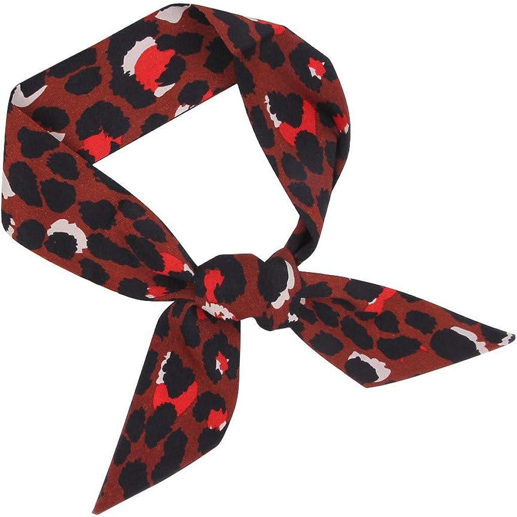 QIMANZI Haarb/änder Damen Frauen Haarband Stirnband mit Twist Bow Wired Headbands Scarf Wrap Hair Accessory Hairband