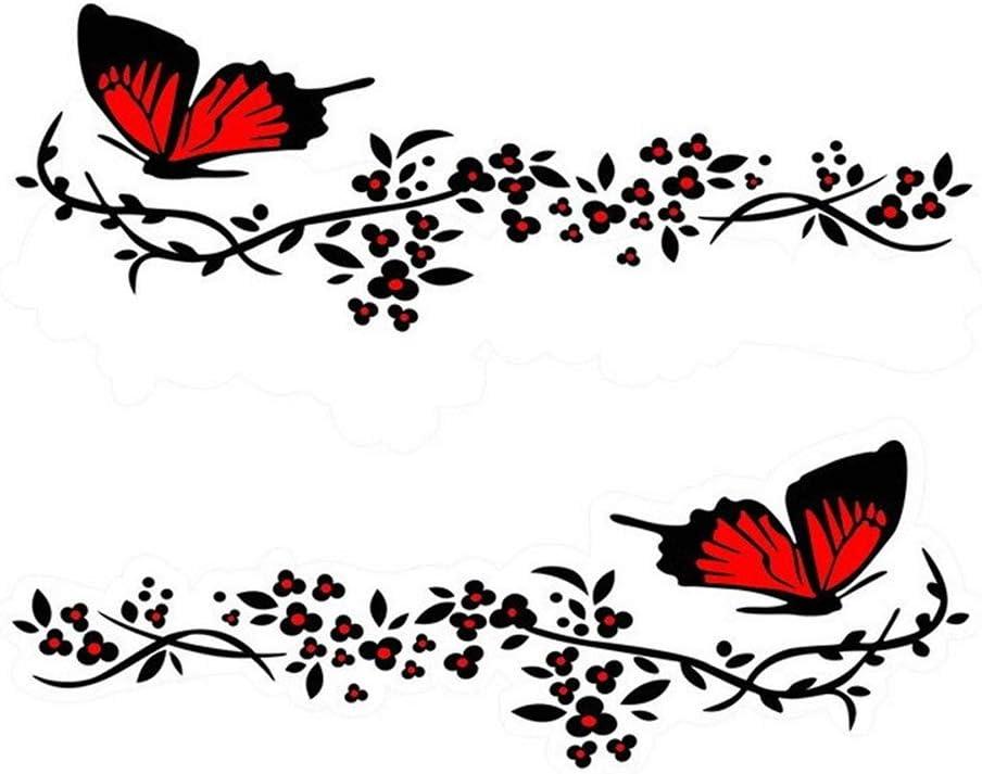 Butterfly Flower Car Rear Sticker Pull Flower Windshield Car Decor sticker BS