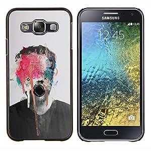 """Be-Star Único Patrón Plástico Duro Fundas Cover Cubre Hard Case Cover Para Samsung Galaxy E5 / SM-E500 ( Pintura abstracta del arte del monstruo Foto Hombre"""" )"""