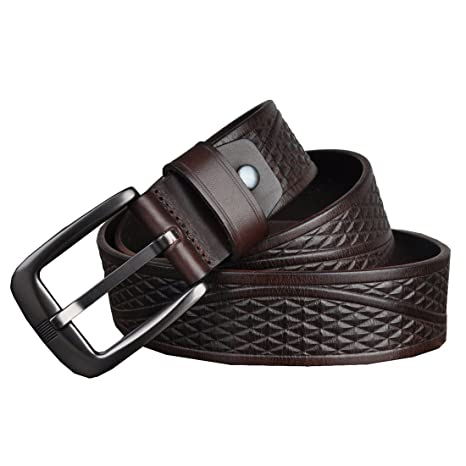 HuaDa Mens Vintage Reversible Classic Buckle Soft Leather Belt On Sale