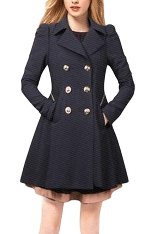Sevozimda Women British Style Double-Breasted Slim OL Office Trenchcoat Outwear CAQZ1961