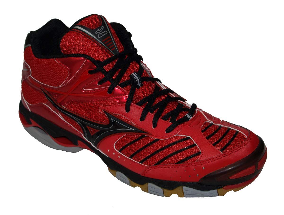 Mizuno Wave Lightning Mid Herren,rot schwarz, Gr. 48,5(US14)
