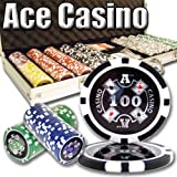 500 Ace Casino Poker Chip Set. 14 Gram Heavy Weighted Poker Chips.