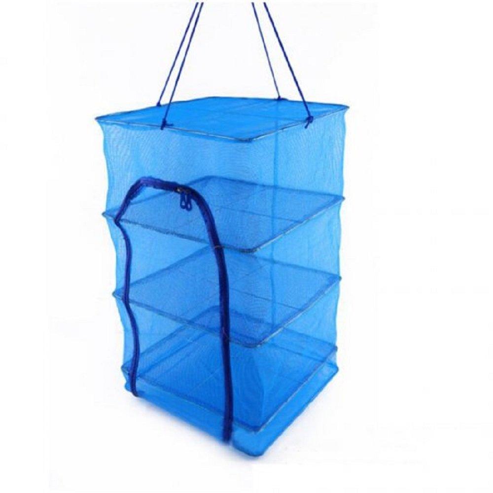 Jinon Folding Fish Measure Ayers Fish Net 15.7 x 15.7 x 25.6Inch Drying Rack Folding Fish Mesh