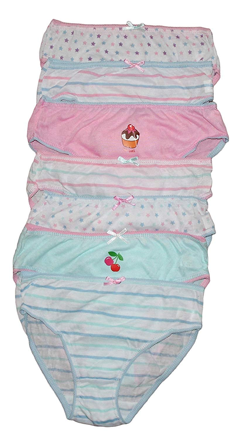 DVANIS Childrens 7 Pack Girls Knickers Briefs