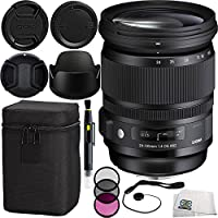 Sigma 24-105mm F/4 DG OS HSM Art Lens for Nikon Bundle Includes Manufacturer Accessories + 3PC Filter Kit + Lens Cap + Lens Pen + Cap Keeper + Microfiber Cleaning Cloth
