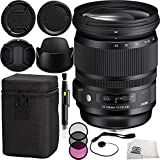 Sigma 24-105mm F/4 DG OS HSM Art Lens for Canon Bundle Includes Manufacturer Accessories + 7PC Essentials Accessory Kit