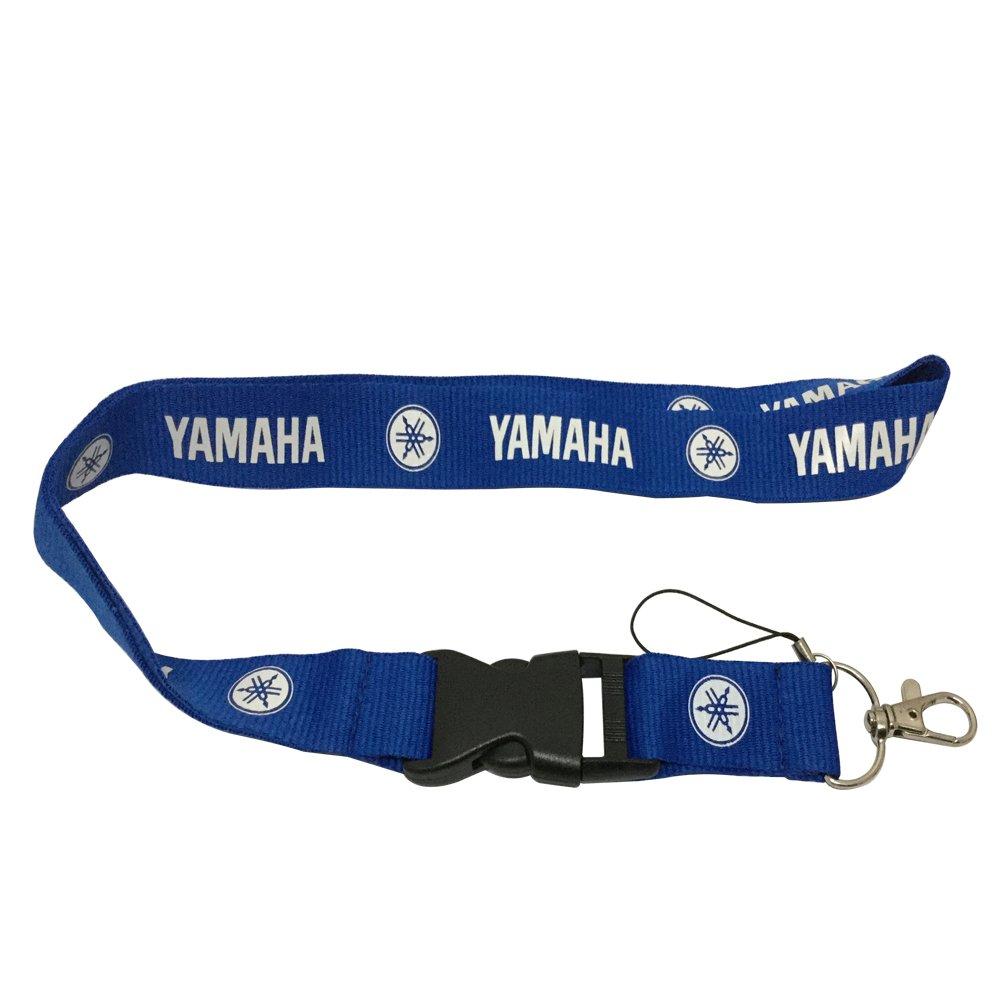 1pcs Blue Color Yamaha Logo Superbike Lanyard Keychain Accessories Motorbike Motorcycle Lanyard Badge Holder