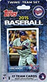 Minnesota Twins 2015 Topps Baseball Factory Sealed EXCLUSIVE Special Limited Edition 17 Card Complete Team Set with Torii Hunter and Many More Stars and Rookies ! Shipped in Bubble Mailer!