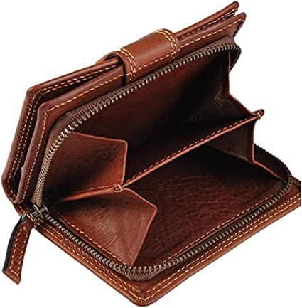 Leder Portemonnaie für 8 Karten Gianni Conti Damengeldbörse mit Reißverschluss