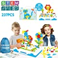 Stem Toys Kit Arts And Crafts Building Block For Boys Girls Age 3 4 5 6 Year Old Educational Construction Fine Motor Skills Toy With Drill Creative Games And Fun Activity