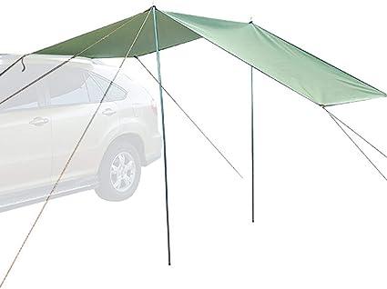 Toldo de coche, Toldo de lluvia en la azotea, Toldo de vela solar, Tienda de campaña Tienda de remolque autocaravana Impermeable Tienda de remolque ...
