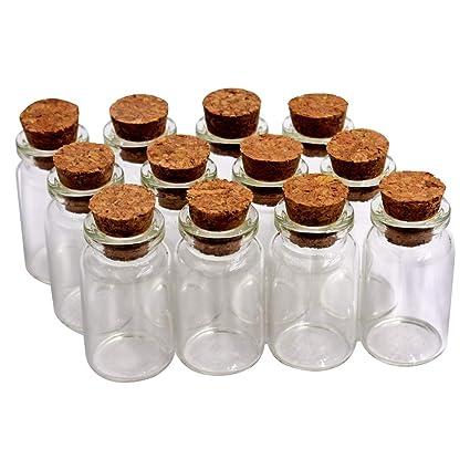 4d97d3c1647c Amazon.com: MIGK 24pcs 7ml Cork Jar Glass Bottles, DIY Decoration ...
