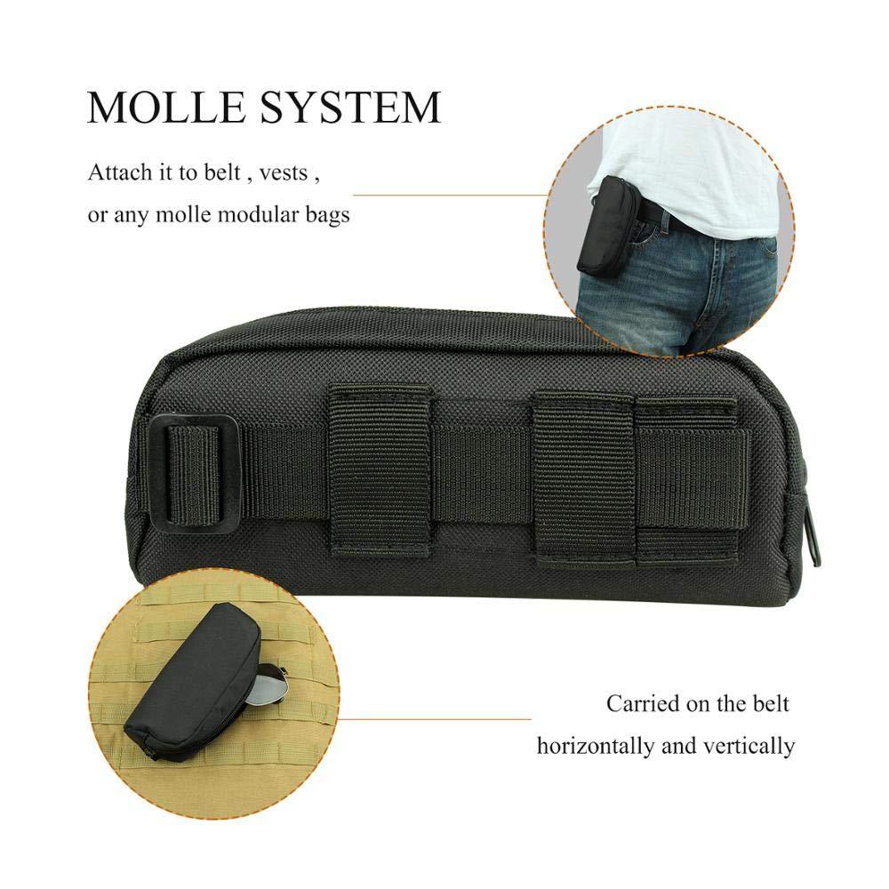 Gexgune Tactical Molle Portable Sunglasses Case Eyeglasses Bag Outdoor Glasses Pouch (3 Colors Optional)