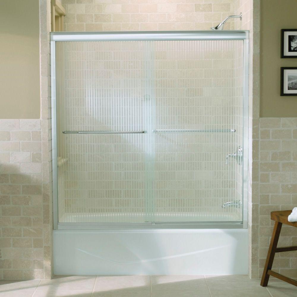 Kohler R702200-G54-SHP Fluence Frameless Bypass Shower Door with ...