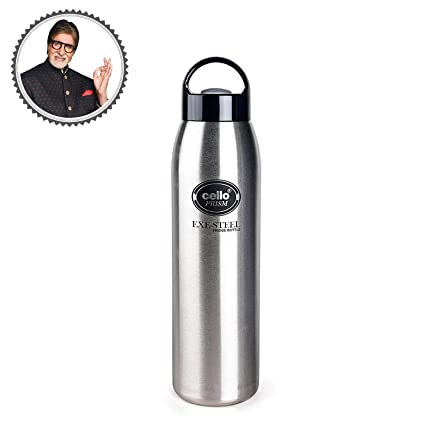 31ada2ec03 Buy Cello Prism Stainless Steel Bottle, 1 Liter, Silver Online at ...