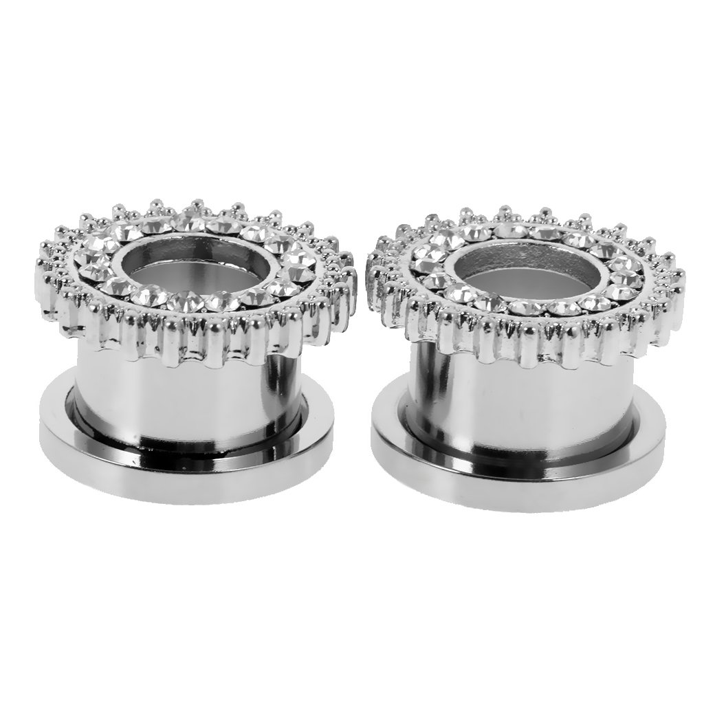 Silver Holibanna 13pcs Stainless Steel Nipple Ring Tongue Straight Barbell Rings Bars Retainer Body Piercing Jewelry for Women Men