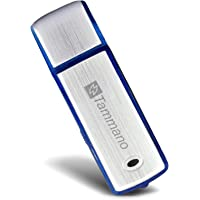 Small USB Digital Voice Recorder with 8GB Flash Drive - Best for Meetings, Presentations, Taking Notes - Mac/Windows - Mini Pro Memory Stick - Silent Audio Sound Recording - One ON/Off Button - Blue