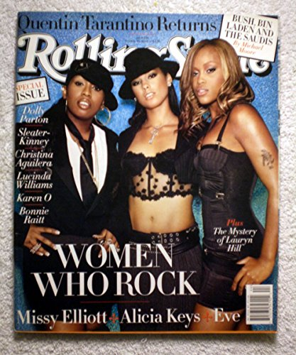 Missy Elliott, Alicia Keys, Eve - Women Who Rock - Rolling Stone Magazine - #934 - October 30, 2003 - The Mystery of Lauryn Hill - Bush, Bin Laden & The Saudis - Quentin Tarantino articles - No Address Label!